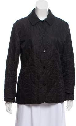 Burberry Quilted Button Front Jacket