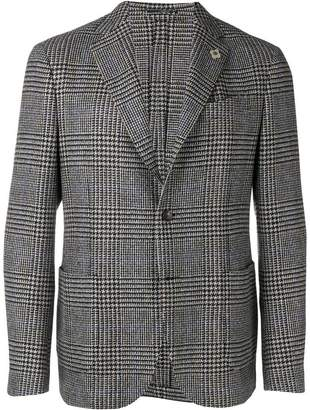Lardini plaid fitted blazer