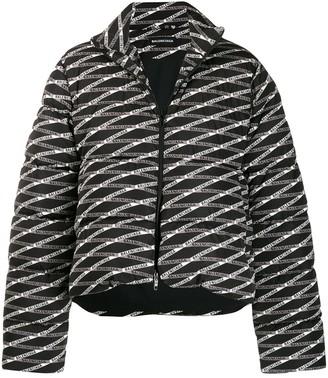 Balenciaga small C shape puffer coat