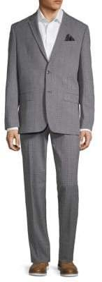 Ben Sherman Plaid Notch Lapel Suit