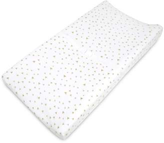 T.L.Care Tl Care TL Care Patterned Jersey Knit Fitted Contoured Changing Table Pad Cover