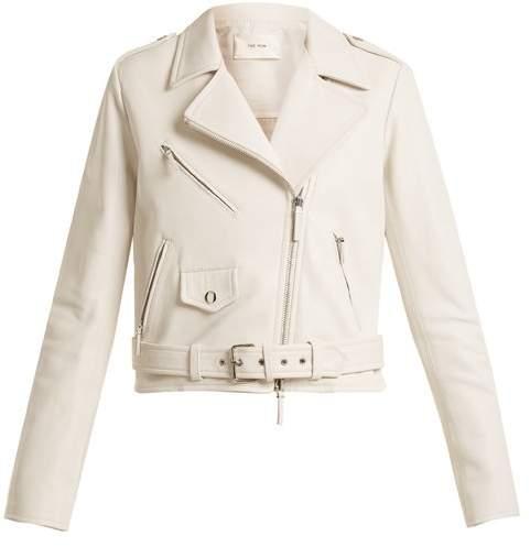 Perlin leather biker jacket