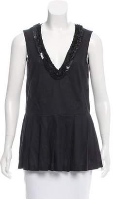 Marni Embellished Sleeveless Top