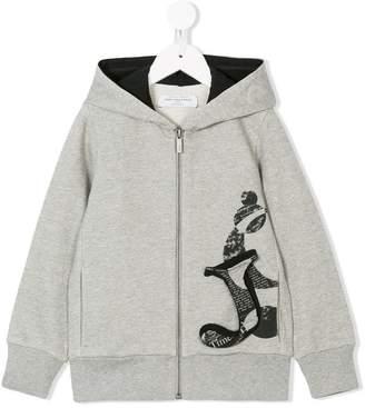 John Galliano logo patch hoodie