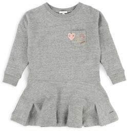 Chloé Little Girl's Embroidered Fleece Dress