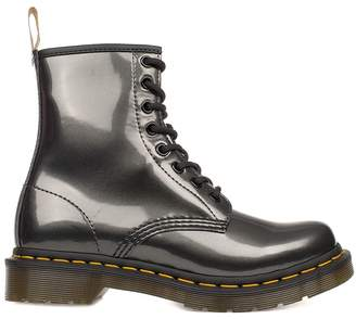 Dr. Martens Anthracite Vegan Patent Leather Low Boot