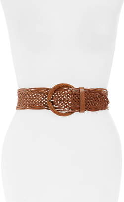 Halogen Woven Leather Belt