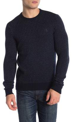 Original Penguin Patterned Wool Blend Crew Neck Sweater