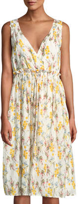 Line And Dot Fleur Floral Sleeveless Dress