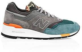 New Balance Men's 997 Color-Block Suede Lace Up Sneakers