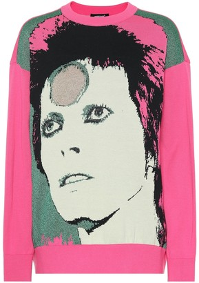 Undercover David Bowie cotton-blend sweater