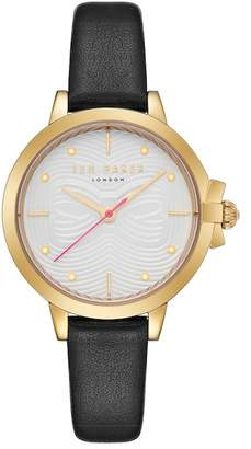 Ted Baker Women's Black Leather Strap Watch, 32mm