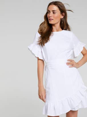 Portmans Australia Isla Ruffle Wrap Linen Dress