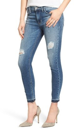 Women's Hudson Jeans Nico Released Hem Ankle Skinny Jeans $235 thestylecure.com