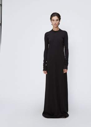 Rick Owens D RK SH D W Long Sleeve Crew Neck Gown