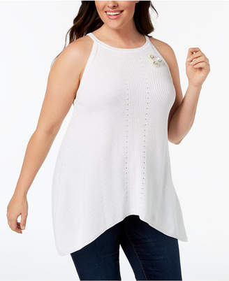 e3e8461a06 ... 525 America Plus Size Cotton Applique Sweater Tank