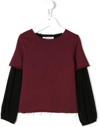 Dondup Kids two-tone sweatshirt