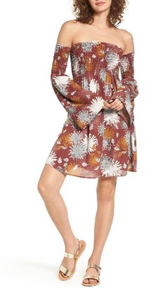Women's Sun & Shadow Smocked Off The Shoulder Dress $55 thestylecure.com