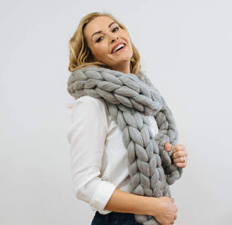 Couture Wool Giant Chunky Knit Scarf