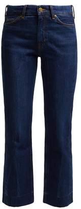 MiH Jeans Daily Crop High Rise Straight Leg Jeans - Womens - Dark Blue