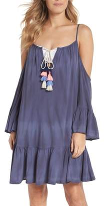 Surf Gypsy Tasseled Cold Shoulder Cover-Up Tunic