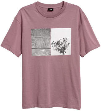 H&M T-shirt with Motif - Purple