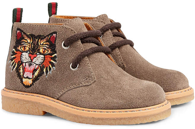 Gucci Kids Toddler boots with embroideries