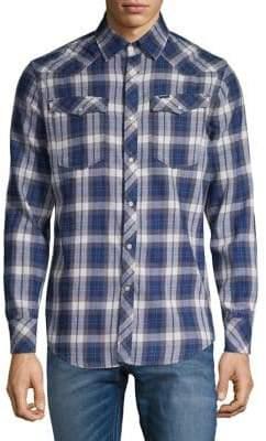 G Star Plaid Button-Down Shirt