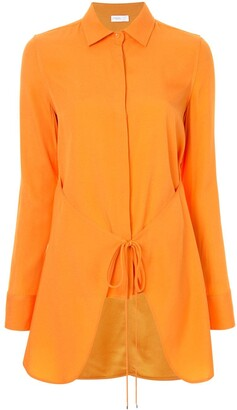 Rosetta Getty apron wrap shirt