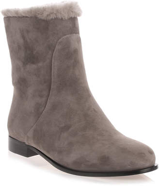 Jimmy Choo Mission taupe grey shearling boot