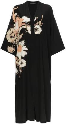 d8ae196eb7e49 Etro V-neck floral print silk kaftan dress
