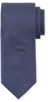 BOSS Dot-Print Silk Tie, Navy