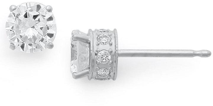 Diamond Filigree Stud Earrings in 14k White Gold (3/4 ct. t.w.)
