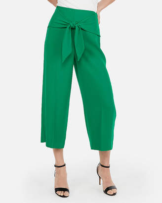 Express Super High Waisted Knot Cropped Culottes