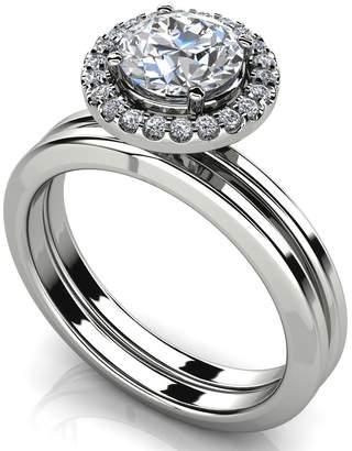 PEACOCK JEWELS GIA Certified 14K Gold (HallMarked) Diamond Enchantment Matching Bridal Set Size - 5.5