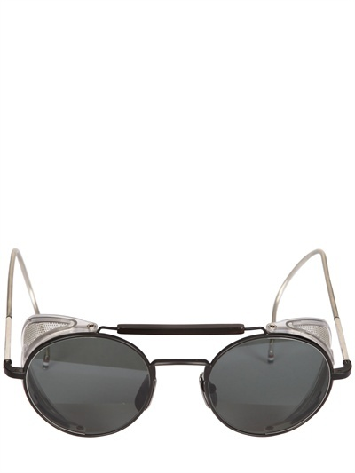 Thom Browne Oval Acetate Sunglasses