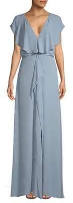 BCBGMAXAZRIA Ruffle-Front Gown