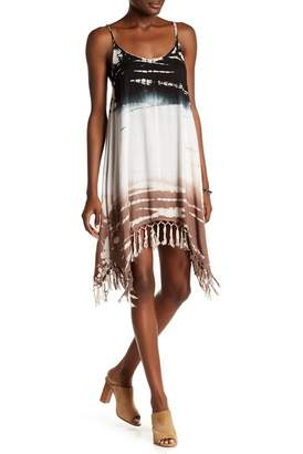 BOHO ME Print Fringe Bottom Dress