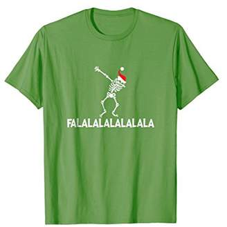 Christmas Dabbing Skeleton T-Shirt_ Falalalalalalala Gift