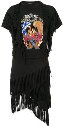 Balmain embellished fringed dress