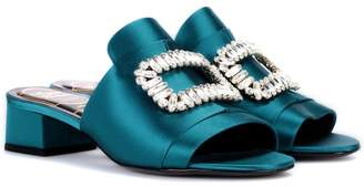 Roger Vivier Exclusive to mytheresa.com – Slipper New Strass satin sandals