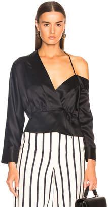Michelle Mason Off Shoulder Wrap Top