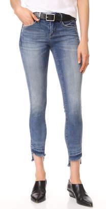 Blank Denim Step Hem Skinny Jeans $98 thestylecure.com