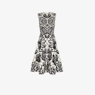 Alexander McQueen shell print flared skirt midi dress