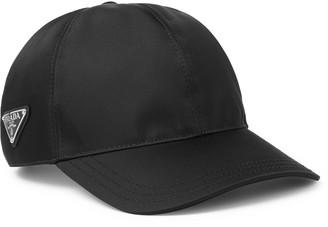 Prada Logo-Appliqued Nylon Cap