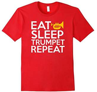 Funny Trumpet Player Gift Cool Eat Sleep Repeat T Shirt