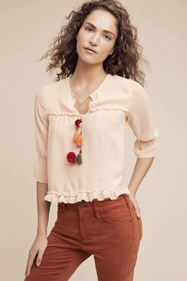 Misa Faye Tasseled Blouse $194 thestylecure.com