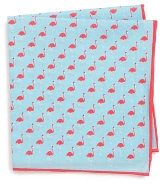 Southern Tide Fenwick Flamingo Cotton & Silk Pocket Square