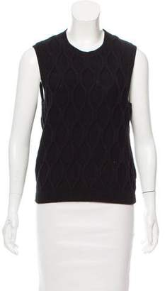 Theory Sleeveless Cable Knit Sweater