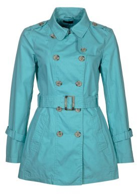 Benetton Trench Coat turquoise